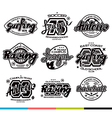 Set of sport badges Graphic design for t shirt vector image vector image