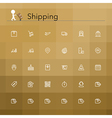 Shipping Line Icons vector image