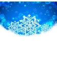 Snowflakes Christmas Banner vector image vector image