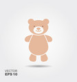 soft toy teddy bear flat icon vector image vector image
