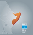 somalia information map vector image vector image