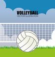 Sport design over landscape background vector image