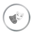 Theater masks icon in cartoon style isolated on vector image