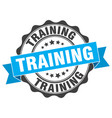 training stamp sign seal vector image