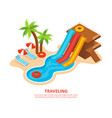traveling isometric background vector image vector image