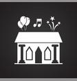 wedding ceremony venue icon on black background vector image vector image