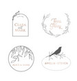 wedding logo luxury collection monogram elegant vector image