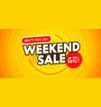 weekend sale banner for digital social media vector image vector image