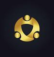 round circle group gold logo vector image