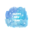 Happy New Year 2016 greeting card Bright blue vector image