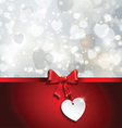 valentines day ribbon background 0701 vector image