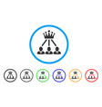 administration crown rounded icon vector image vector image