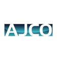 ajco logo design template vector image vector image