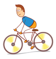 bicycling vector image vector image