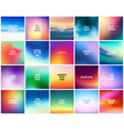 big set of 20 high quality square blurred nature vector image vector image
