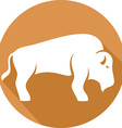 Bison Icon vector image vector image