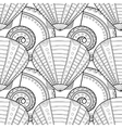 Black white seamless pattern with decorative sea vector image vector image