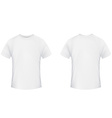 Blank t-shirt template Front and back side on a vector image