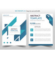 blue abstract triangle annual report brochure vector image