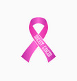 breast cancer awareness pink ribbon isolated vector image