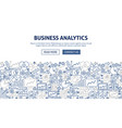 business analytics banner design vector image vector image