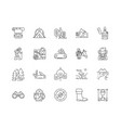 camping line icons signs set outline vector image vector image