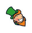 Cheerful Leprechaun vector image