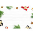 christmas frame with copy space for text on white vector image vector image