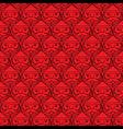 Christmas santa claus faces monotone seamless vector image vector image
