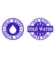 cold water grunge stamp seals vector image vector image