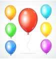 Color glossy rainbow balloons vector image