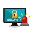 computer security data base lock vector image vector image