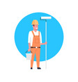 construction worker icon painter or decorator man vector image vector image