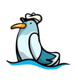 cute funny blue-colored bird with a different vector image vector image