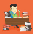 despair business man working in office vector image vector image