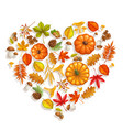fall banner with autumn foliage vector image vector image