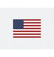 flag usa american flag flag usa on transparent vector image vector image