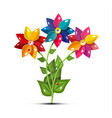 flower symbol fresh garden flowers isolated on vector image