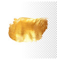 gold hand drawn paint brush stroke vector image vector image