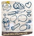 Hand Drawn Freak Set vector image