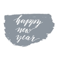 Happy new year calligraphic inscription vector image