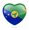 Heart icon of Christmas Island vector image