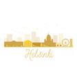 Helsinki City skyline golden silhouette vector image vector image