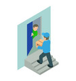 home delivery icon isometric style vector image