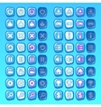 ice game icons buttons icons interface ui vector image vector image