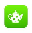 kettle icon digital green vector image vector image