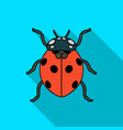 ladybug icon in flat style isolated on white vector image vector image