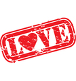Love stamp vector image vector image