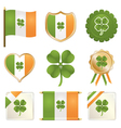 lucky four leaf clovers vector image