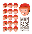 man emotions handsome face man different vector image vector image